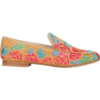 Kenneth Cole New York Women's Westley Loafer Natural Embroidered Raffia
