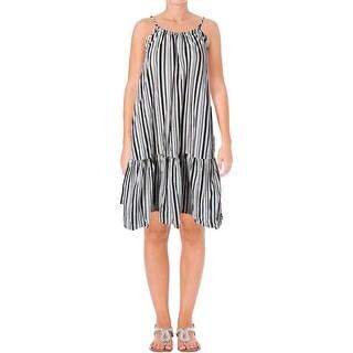 Minkpink Womens Rivera Casual Dress Striped Knee-Length