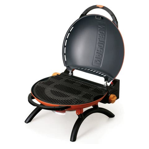 "Napoleon TQ2225 TravelQ 10500 BTU 24"" Wide Dual Burner Liquid Propane Portable Grill - Orange"