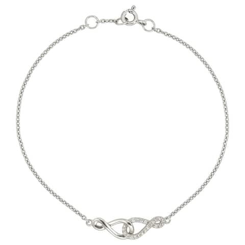 """Forever Last Sterling Silver 7"""" Infinity Bracelet"""