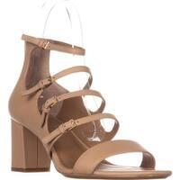 Calvin Klein Caz Strappy Heeled Sandals, Snadstorm
