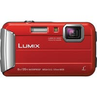 Panasonic DMC-TS30R LUMIX Active Lifestyle Tough Camera (Red) & Swiss Gear Case