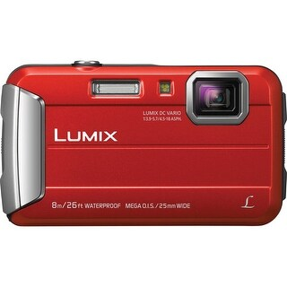 Panasonic DMC-TS30R LUMIX Active Lifestyle Tough Camera (Red) & Swiss Gear Case