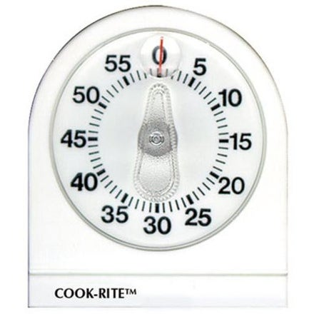 Taylor 90350-000-000 Cook-Rite Mechanical Kitchen Timer, White