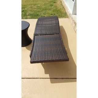 San Marco Outdoor 3-piece Wicker Chaise Lounge Set by Christopher Knight Home