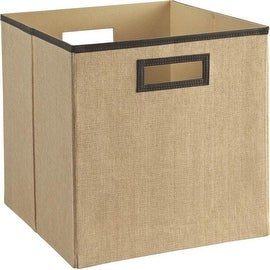 ClosetMaid 4236 Decorative Storage Fabric Bin, Linen Khaki