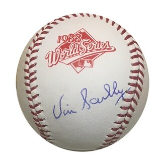 Vin Scully Autographed Dodgers 1988 World Series Signed Baseball PSA DNA COA 1