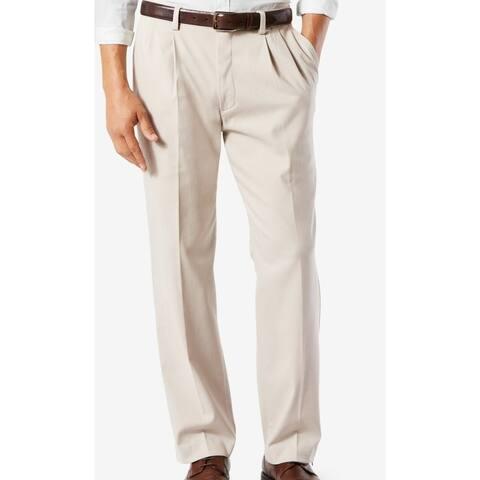 Dockers Mens Pants Classic Light Beige Size 40 Chino Khaki Stretch