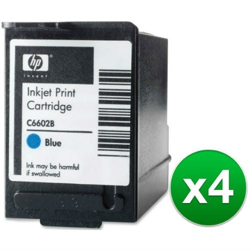 HP Blue POS Ink Cartridge High Yield (C6602B) (4-Pack)