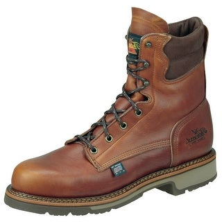 Thorogood Work Boots Mens Leather Job Pro Plain Toe Tobacco 814-4549