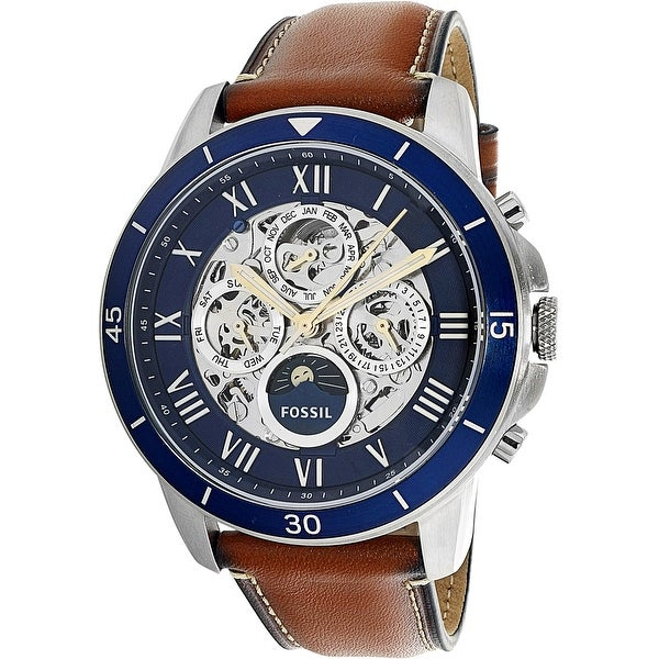 Fossil Men's Grant Silver Stainless-Steel Automatic Dress Watch. Opens flyout.