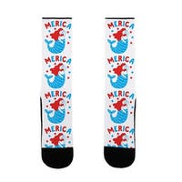 Merica Mermaid US Size 7-13 Socks by LookHUMAN