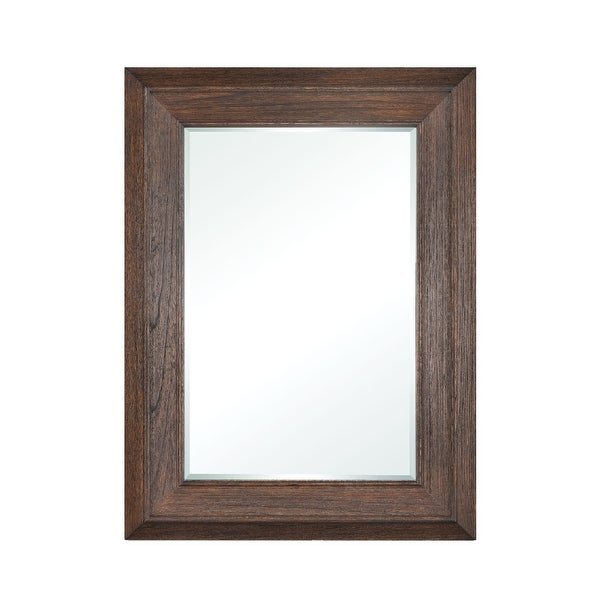 "48"" Dark Oak Cellar Door Rectangular Wall Mirror - N/A"