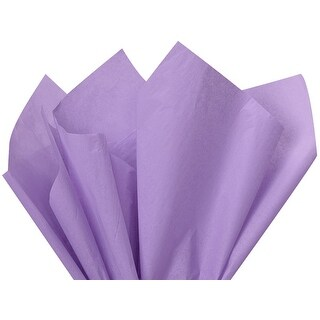 "(24 pack) Solid Soft Lavender Tissue Paper 20 x 30"" Sheet Pack Made From 100% Post Industrial Recycled Fibers"