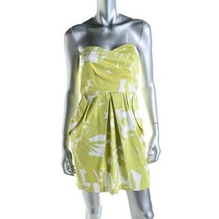 BCX Womens Juniors Poplin Strapless Casual Dress - 7