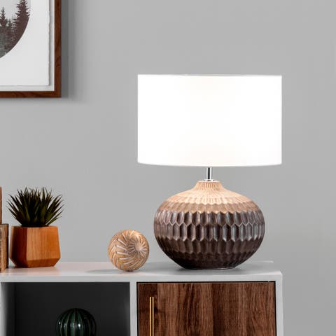 """nuLOOM Derry 20"""" Ceramic Table Lamp - 14.5""""W x 14.5""""D x 19.5""""H"""