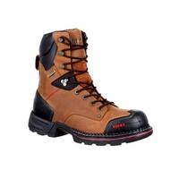 Rocky Work Boots Mens Maxx Lace Rubber Shell Crazy Horse