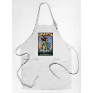 Minnesota - Paul Bunyan - Lantern Press Artwork (Cotton/Polyester Chef's Apron)