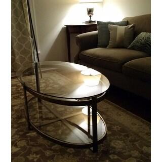 Strick & Bolton Retro Glitz Glass/ Metal Coffee Table