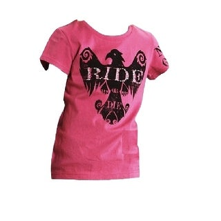 Roper Western Shirt Girls S/S Eagle Tee Purple 03-009-0513-6040 PU