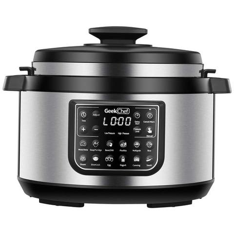 8 Qt 12-in-i Multiuse Programmable Electric Pressure Cooker Oval