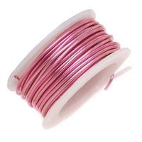Artistic Wire, Silver Plated Craft Wire 18 Gauge Thick, 4 Yard Spool, Rose Pink