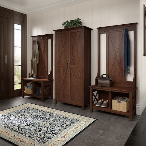 Key West Entryway Storage Set with Tall Cabinet by Bush Furniture