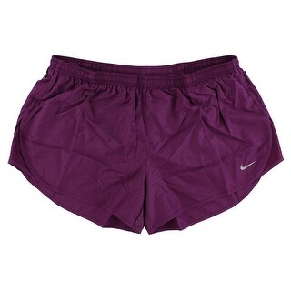 Nike Womens Tempo Modern Embossed Running Shorts Purple - XL