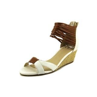 Kelsi Dagger Paula-K Open Toe Leather Wedge Sandal