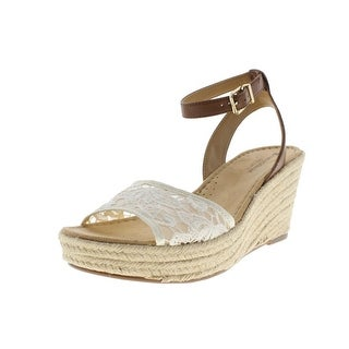 Naturalizer Womens Note 2 Faux Leather Lace Wedges - 9 narrow (aa,n)