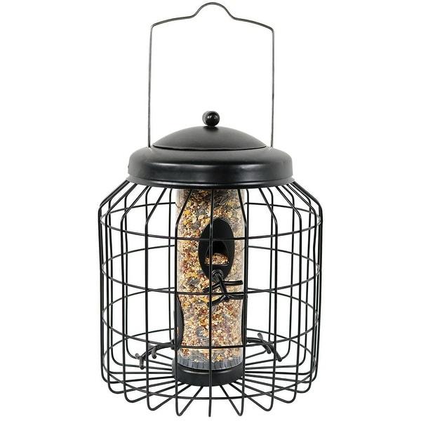 Sunnydaze 12 Inch Black 4-Peg Squirrel-Proof Wild Bird Feeder