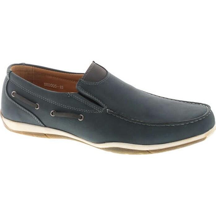 Sedagatti Mens Fashion Boat Shoes Slip On Loafers NavyGrey