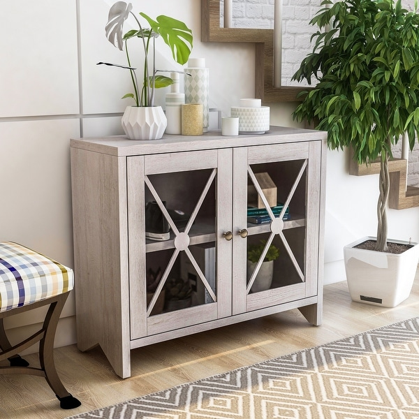 Furniture of America Lyle Transitional Accent Cabinet With 1-shelf. Opens flyout.