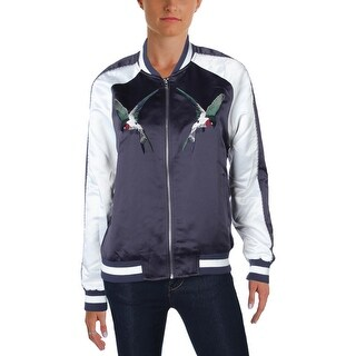 Bagatelle Womens Bomber Jacket Embroidered Outerwear (3 options available)