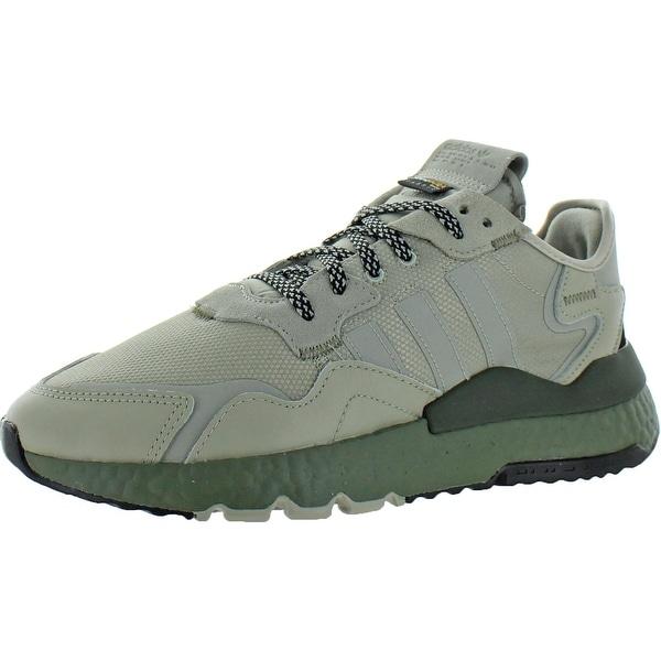 adidas Originals Mens Nite Jogger Running Shoes Knit Low Top - Sesame/Sesame/Raw Khaki