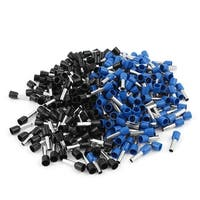 Unique Bargains 320pcs Black Blue Insulated Tube Pin End Terminals for AWG10 Wire Cable