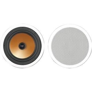 """BIC America HT8C BIC America Acoustech HT-8C 175 W RMS - 375 W PMPO Speaker - 2-way - White - 38 Hz to 22 kHz - 8 Ohm - 90 dB"
