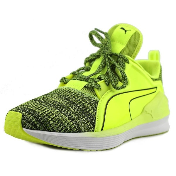 Puma Fierce Lace Knit Wn's Women Round Toe Canvas Yellow Sneakers
