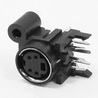 Unique Bargains PCB Mounting DIN 4 Pin Female Connecting Connector Adapter Sockets