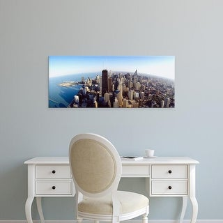 Easy Art Prints Panoramic Images's 'Aerial view of a city, Chicago, Illinois, USA' Premium Canvas Art