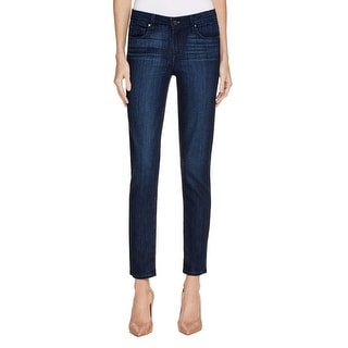 Paige Womens Ankle Jeans Skinny Dark Wash