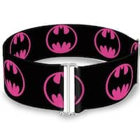 Bat Signal 4 Black Fuchsia One Size Cinch Waist Belt   ONE SIZE