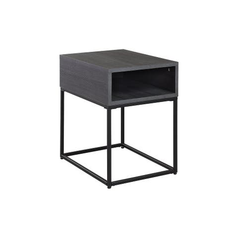 """Yarlow Contemporary Black Rectangular End Table - 16""""W x 22""""D x 22""""H"""