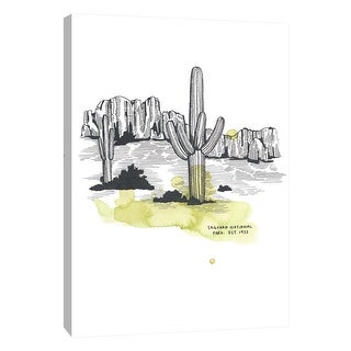 "PTM Images 9-105647  PTM Canvas Collection 10"" x 8"" - ""Nation Park Saguaro"" Giclee Abstract Art Print on Canvas"