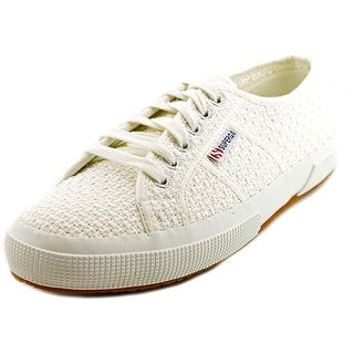 Superga Crochetw Women Round Toe Canvas White Sneakers