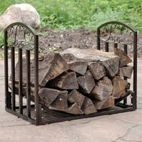 Sunnydaze Bronze Heavy-Duty Indoor-Outdoor Designer Firewood Log Rack - 2-Foot