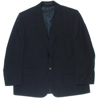 Bert Pulitzer Mens Gary Wool Blend Wrinkle Resistant Two-Button Suit Jacket - 44S