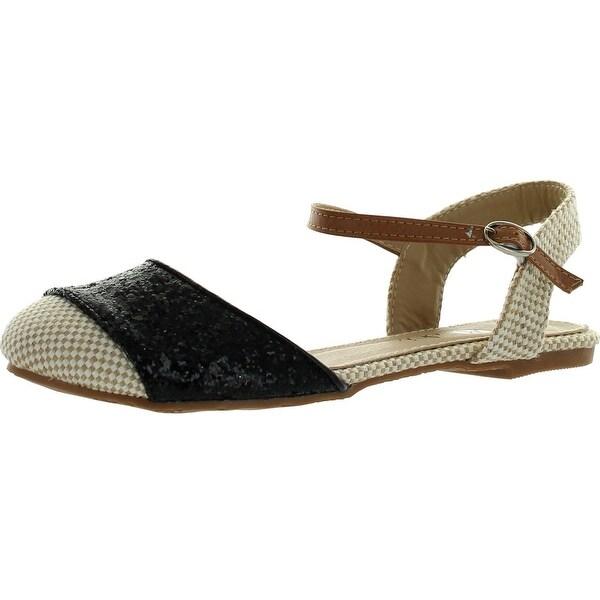 Machi Faith-1 Womens Closed Toe Buckle Ankle Strap Sandal Flats