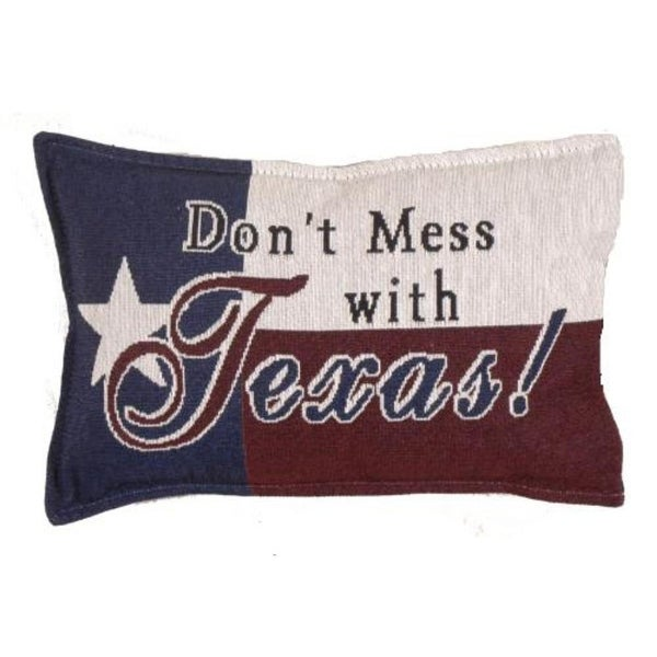 "Set of 2 ""Don't Mess with Texas"" Decorative Tapestry Throw Pillows 12"""
