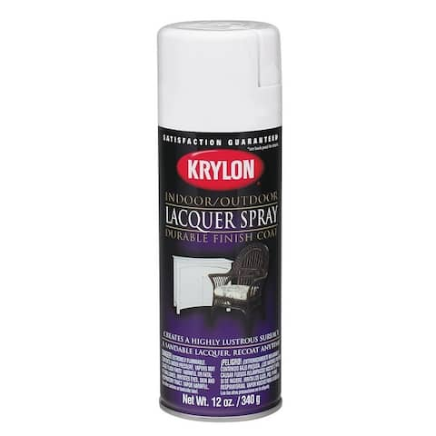 Krylon 7032 Lacquer Spray Paint, 12 Oz, Clear Gloss